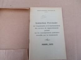 Instruction Provisoire Sur L'organisation Et Le Fonctionnement Des Services De Rapprochements - 101/01 - Andere
