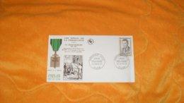 ENVELOPPE FDC DE 1960../ LES HEROS DE LA RESISTANCE EDMOND DEBEAUMARCHE DIJON CACHETS + TIMBRE - FDC