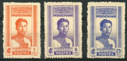 Indochine (1941) N 224 à 226 * (charniere) - Indochina (1889-1945)