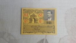 ANTIQUE PORTUGAL SEASON TICKET PASSE CARRIS DE FERRO DE LISBOA 2ª CLASSE 1951 - Abonnements Hebdomadaires & Mensuels