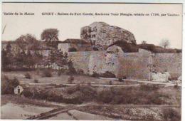 08. VALLEE DE LA MEUSE . GIVET . RUINES DU FORT CONDE . ANCIENNE TOUR MAUGIS REBATIE EN 1726 PAR VAUBAN - Givet