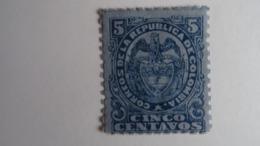 COLOMBIE 1890 - Armoiries 5 Centavos Bleu Sur Bleu (n°96 Yvert Et T) - MNH - Neuf Avec Gomme D'origine - Colombia