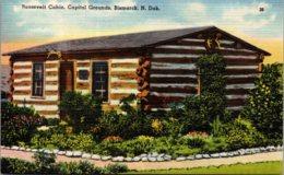North Dakota Bismarck Capitol Grounds Roosevelt Cabin - Bismark