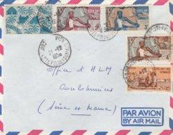 Enveloppe Djibouti Avion - Cote Françaises Des Somalis - 1956 - Usati