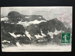 CPA D'août 1912 Gavarnie Cylindre Marboré Estazou Du Soum De Port -Bieil Avec Les Altitudes - Gavarnie