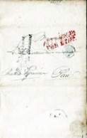 LETTRE ANCIENNE/MARQUE POSTALE PRECURSEUR 1829< DIRECTION ENREGISTREMENT&DOMAINES < PAU - 1801-1848: Précurseurs XIX