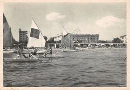 Cartolina Riccione Grand Hotel Dal Mare Pattini 1949 Timbro Profumo Garmella - Imperia