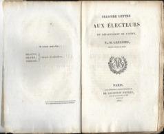 Rare Document De 1820 Isère Seconde Lettre Aux Electeurs Par M. Grégoire Evêque Et Homme Politique Révolution Française - Documentos Históricos