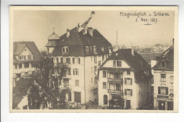 LIEUTENANT ALBERT AMEZ DROZ ACCIDENT SCHLIEREN RESTAURANT LOWEN 1917 SUISSE AVIATION /FREE SHIPPING REGISTERED - Piloten