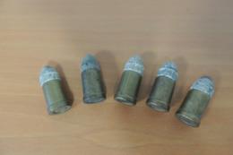 5 Munitions 9mm GALAND Poudre Noire, Pour Collection - Decorative Weapons