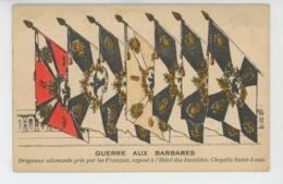 GUERRE 1914-18 - Drapeaux Allemands Pris Par Les Français, Exposé à L'Hôtel Des Invalides, Chapelle Saint Louis - Guerra 1914-18