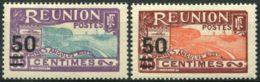 Reunion (1933) N 123 à 124 * (charniere) Sauf 123A - Réunion (1852-1975)
