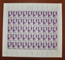 Feuille Complète De 50 Timbres France -1948 - Louis Braille 6 F. + 4 F. Violet - Y&T N°793 - Feuilles Complètes