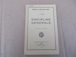 Discipline Générale - Réglement Du Service Dans Les Armée 1ère Partie - 321/01 - Andere