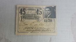 ANTIQUE PORTUGAL SEASON TICKET PASSE CARRIS DE FERRO DE LISBOA 1ª CLASSE 1945 - Abonos