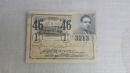 ANTIQUE PORTUGAL SEASON TICKET PASSE CARRIS DE FERRO DE LISBOA 1ª CLASSE 1946 - Abonnements Hebdomadaires & Mensuels