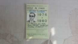 ANTIQUE PORTUGAL SEASON TICKET PASSE CAMINHOS DE FERRO PORTUGUESES ROSSIO QUELUZ 1976 To 1980 - Wochen- U. Monatsausweise