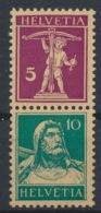 """Schweiz Suisse 1928: Zusammendruck """"Tell & Fils"""" Zu Z14 Mi S17 Se-tenant) ** MNH (Zu CHF 6.50) - Se-Tenant"""