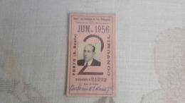 ANTIQUE PORTUGAL SEASON TICKET PASSE CAMINHOS DE FERRO PORTUGUESES PORTO - CONTUMIL 1956 - Abonnements Hebdomadaires & Mensuels