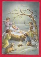 CARTOLINA VG ITALIA - BUON NATALE - Adorazione Di Gesù Bambino - P. VENTURA - CECAMI 4456 - 10 X 15 - 1958 - Altri