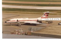 PHOTO AVION TUPOLEV 134  OK CSA  OK-EFJ  1987   ZURICH  12X8CM - Aviazione