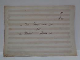 Antigua Partitura Manuscrita. Dos Americanas Por Manuel Llenas. 9 Instrumentos. - Partituras