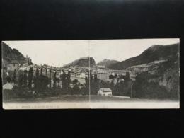 CPA Panoramique Format Double Du 12 Décembre 1906 Briançon Vue De La Ville Et Des Forts - Briancon