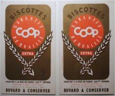 Lot De 2 Buvards Biscottes COOP       /P32 - Biscottes
