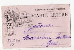 (guerre14-18) Carte Lettre De FRANCHISE MILITAIRE (illustration De  JOB) 1917   (PPP21001) - Marcophilie (Lettres)