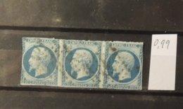 11 - 19 //   France N°14 Bande De 3 - 1853-1860 Napoleone III