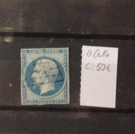 11 - 19 //   France N°14 Oblitération Grille - Cote : 50 Euros - 1853-1860 Napoléon III