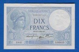 10  Fr  Du  9/1/1941  Sup - 1871-1952 Antichi Franchi Circolanti Nel XX Secolo
