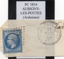 Ardennes - N°14B Obl PC 3854 Aubigny-les-Pottes - 1853-1860 Napoléon III
