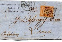 Ardennes - LAC Affr N° 38 Obl GC 898 - Càd Type 17 Charleville - Marcophilie (Lettres)