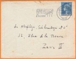 """LUXEMBOURG  Enveloppe   De LUXEMBOURG VILLE   Le  24 10 1955  Y.T. Num 421B Flamme """" L'avez Vous Déclaré??? """" - Luxemburg"""
