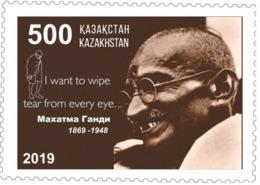 Kazakhstan 2019. Sheet (10 Stamp). 150 Anniversary Of Mahatma Gandhi. MNH - Kasachstan