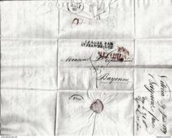 LETTRE ANCIENNE/MARQUE POSTALE PRECURSEUR 1829 - VITTORIA < ESPAGNE/STJEAN DE LUZ < BAYONNE - 1801-1848: Vorläufer XIX