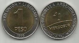 Argentina 1 Peso 1998. UNC MERCOSUR KM#125 - Argentinië