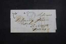 """FRANCE - Lettre De Chambery Pour La France En 1858  Cachet D'entrée En France """" Sardaigne - Culoz AC """" - L 46224 - Marcophilie (Lettres)"""