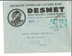 Entête Sur Enveloppe. Construction D'appareillage électrique Blindé Desmet. Sté Ind D'électro Mécanique à Lambersart - 1900 – 1949