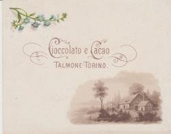 A/2 - CARTONCINO 11,5X9,3 - PUBBLICITA' CIOCCOLATO E CACAO TALMONE TORINO - PRIMI '900 - Chocolat