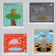 Switzerland - 2019 - The World Of Animals - Mint Self-adhesive Stamp Set - Nuevos