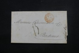 """FRANCE - Lettre Pour La France En 1858  Cachet D'entrée En France """" Deux Siciles - Marseille """" - L 46225 - Postmark Collection (Covers)"""