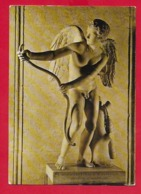CARTOLINA VG ITALIA - Statua Di Eros Con L'arco Da Originale Di LISIPPO - Museo Capitolino ROMA - 10 X 15 - 1986 - Sculture