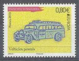 Andorra (French Adm.), EUROPA, Postal Vehicle, 2013, MNH VF - French Andorra