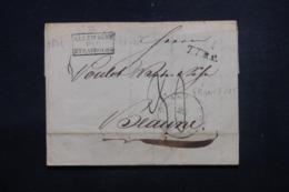 "FRANCE / ALLEMAGNE - Cachet D'entrée En France "" Allemagne Par Strasbourg "" Sur Lettre De Francfort En 1821 - L 46227 - Marcophilie (Lettres)"