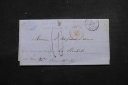 """FRANCE - Cachet D'entrée En France """" Paq.Ang.1 Marseille """" Sur Lettre De Alexandrie En 1854 - L 46228 - Storia Postale"""