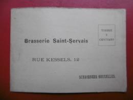 BRASSERIE SAINT SERVAIS BRUXELLES CARTE BON DE COMMANDE - Belgique