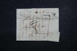 """FRANCE / ITALIE - Cachet D'entrée En France """" Italie P. Le Pont De Beauvoisin """" Sur Lettre De Firenze En 1825 - L 46229 - Marques D'entrées"""