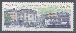 Andorra (French Adm.), Rebes Square, Andorra La Vella, 2013, MNH VF - Unused Stamps